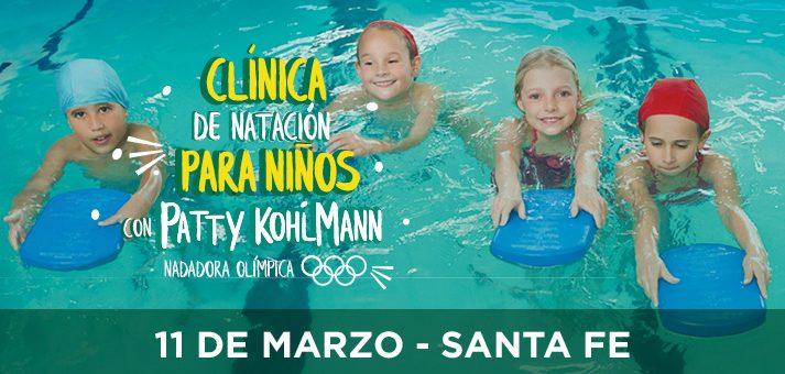 Clínica de natación para niños de Patty Kohlmann.
