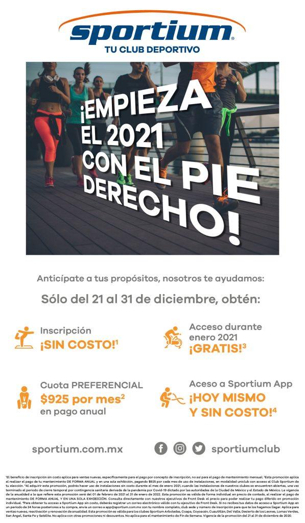 Promoción especial para ti que te propusiste hacer ejercicio, bajar de peso y cuidar tu salud, sólo en Sportium Club.