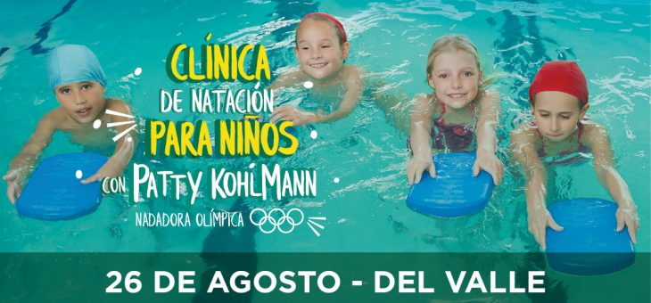 Clínica de natación para niños con Patty Kohlmann